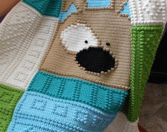 PUPPY pattern for crocheted blanket
