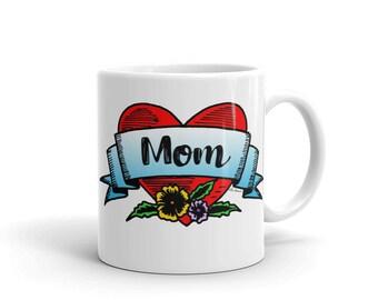 Mom in a Heart Mug