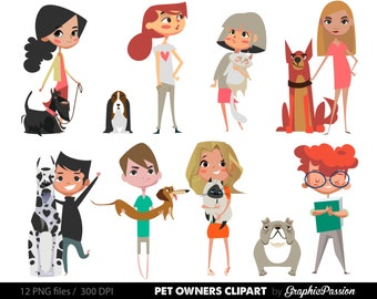 Pet clipart - puppy clipart, cute dogs clipart, puppy, cat, instant download