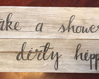 Barn Wood Calligraphy Quote