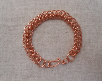 Copper Dragontail Bracelet,Copper Chainmaille Bracelet,Handmade Copper Bracelet, Copper Bracelet for Women, Copper Bracelet for Arthritis