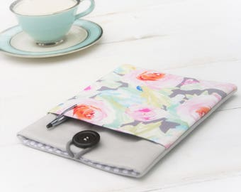 ipad case, ipad mini case, ipad pro case, samsung tablet case, ipad air case, made to FIT ANY BRAND tablet, Linen & Tender Flower Case