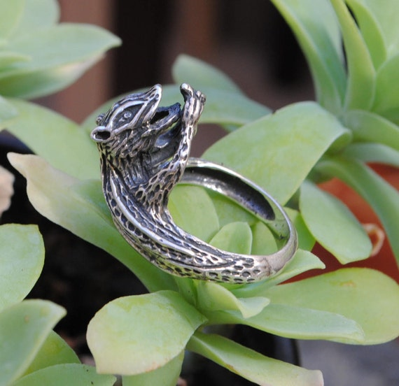 Squirrel ring - vintage ring - sterling silver ring - unisex ring - man ring - animals ring - squirrel lovers