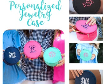 Personalized Jewelry Case,  monogrammed Jewelry Case , Jewelry bag , vacation  bag, Bridesmaid gift, jewelry holder