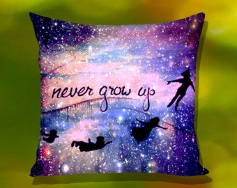 Disney Peter Pan Quote Nebula Pillow Case
