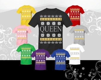 Queen Ugly Christmas T-Shirt, Queen Christmas tee, Christmas shirt