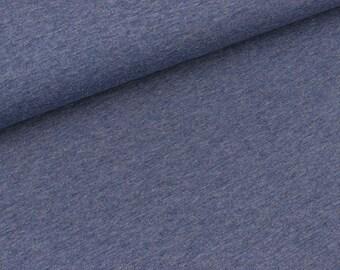 Bio-single-Jersey jeans blue melange (18.50 EUR / meter)