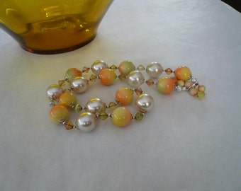 Vintage Large Beaded Necklace