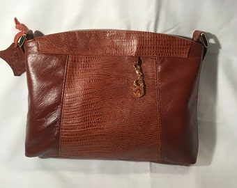 Crossbody Purse - Small Leather Purse - Brown Purse - Free Shipping!