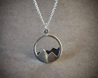 Mountains Necklace - Sterling Silver