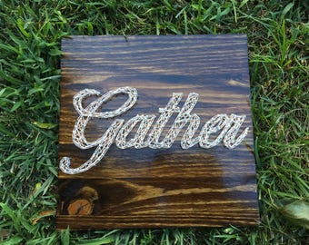 Gather string art