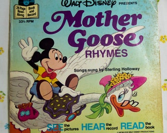 Mother Goose Rhymes with record - Walt Disney Read Along.