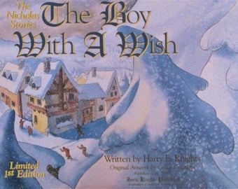 """Harry Knights The Nicholas Stories """"The Boy With A Wish"""" 1977 Book-Signed"""