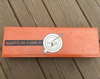 Vintage Tin Marbles Shotgun Cleaning Kit # 834 Sharp Clean