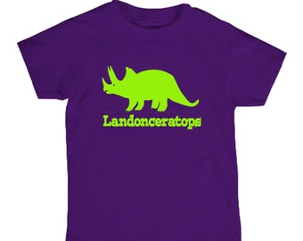 Dinosaur Birthday shirt for kids - dinosaur name shirt - pick your colors!