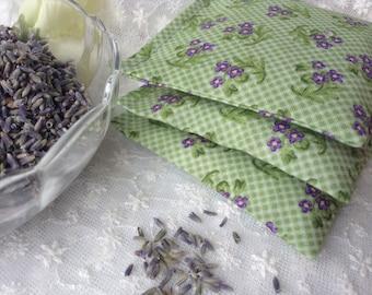 Lavender Dryer Sachet Set of 3 - Organic French Lavender, Clothes Dryer Sachets, Eco Friendly Green Living Dryer Sheet Alternative