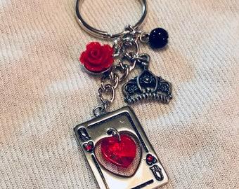 Queen of Hearts Keychain