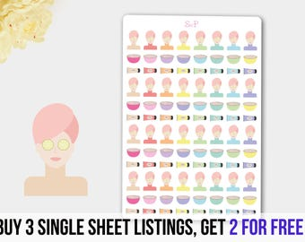 SPA Stickers,  SPA Planner, Beauty Planner Stickers, Mask Planner Stickers, Relax Planner Reminder