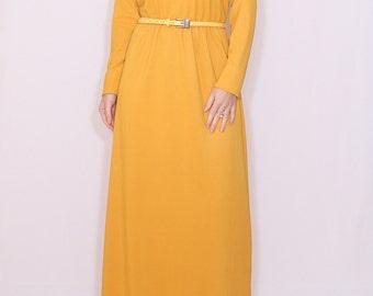 dress maxi dress long dress elegant dress women dress mustard dress mustard yellow dress full length dress fall dress women maxi dress