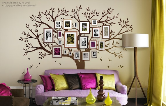 Family Tree Wall Decal   Office Wall Decals   Photo Frame Tree Wall  Stickers   Art Decor