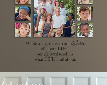 Family wall decal - Family Room Wall Decal - Life wall decal - Family decal - Children Quote - Teach - Inspire - Wallapalooza Wall Decals