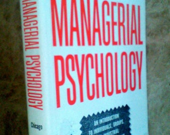 Very RARE ! Harold J.Leavitt Managerial Psychology The University of Chicago 1st Edition / 2nd Print 1959