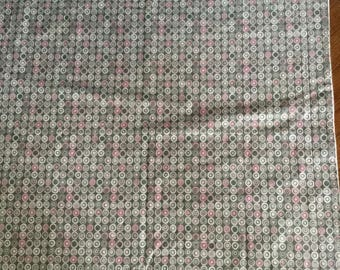 Pink and grey soft flannel baby blanket