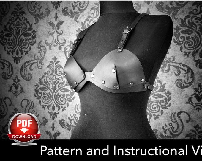 Bra Pattern - Cosplay DIY - Pdf Download - Leather Bra template - Brassiere Templates - Leather Bra