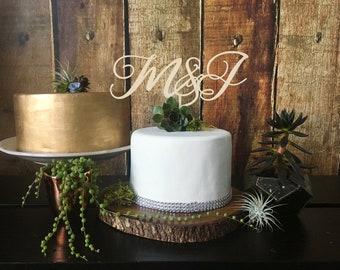 Custom Wedding Cake Topper, Monogram Cake Topper, Personalized Monogram Cake Topper,  Wooden Cake Topper, Wood Cake Topper, Wedding Topper