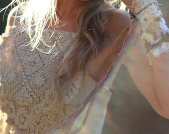Boho lace wedding dress, Short lace dress, Mother of the bride dress, Woodland wedding dress, Alternative wedding dress, Hippie wedding