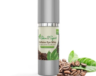 AGE DEFYING Eye Cream w/Caffeine & Hyaluronic Acid | for Puffy Eyes | Dark Circles | Fine Lines | Natural | Organic | Cruelty Free | 1 oz!