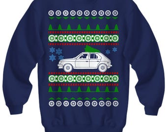 Dodge Omni GLH turbo Ugly Christmas Sweater 1986  xmas gift 1980s boost race car boosted fast cars radwood american