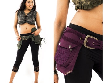 STEAMPUNK utility belt, fanny pack, junk Gypsy, Pocket BELT, hip pack, waist pack, festival clothing, Mfbebr