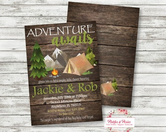 Camping Baby Shower Invitation - Camping Shower Invitation - PRINTABLE - Camping Baby Shower Supplies - Printable Camping Invitation