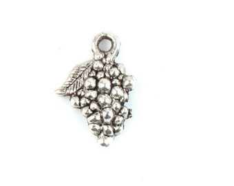 """30 pieces Grape Cluster Tibetan silver, approx.3/4""""  jewelry Charm Tibetan Silver Charms U.S. Seller SHIPS QUICK"""