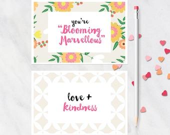 Printable Postcard Set / Floral Postcard Printable Mother's Day / Printable Card / Snail Mail Postcard / Happy Mail Postcard / Post Card Set