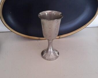 Single Pewter Wine Glass