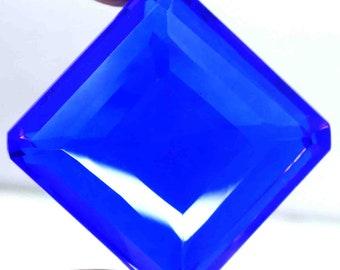 162.50 Ct Certified Superior Emerald Cut Transparent London Blue Topaz Gemstone AO2171