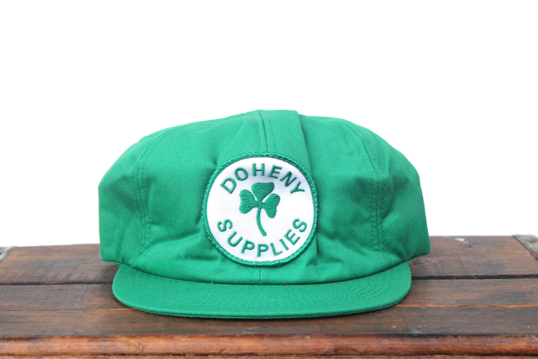 Vintage Doheny Supplies Clover Trucker Hat Snapback Baseball ee3b776ddb82
