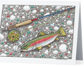 Rainbow Trout Note Cards