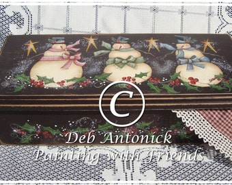 Holly Berries and Snowies by Deb Antonick, email pattern packet