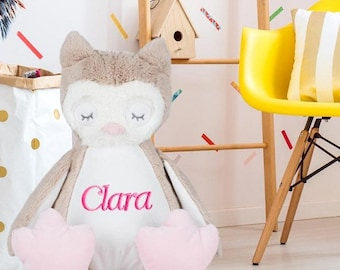 Plush OWL customized with your name - personalized kids gift
