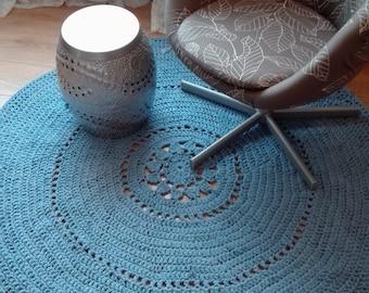 Marl blue crochet carpet LAST CHANCE SALE!