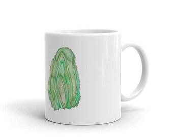 Green Geode Mug