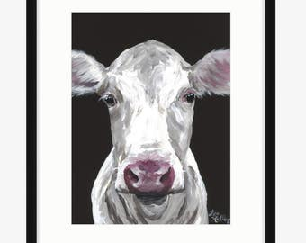 Cow art print, cow print, cow art from original cow painting, cow art, cow prints, cow decor, cute cow art