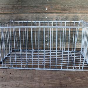 Vintage galvanized metal milk crate