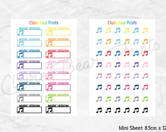 MUSIC Planner Stickers (2 options)