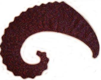 Purple dragon tail scarf