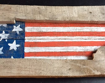 Tennessee state patriotic cutout
