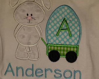 Easter Bunny with Egg Personalized Embroidery Applique